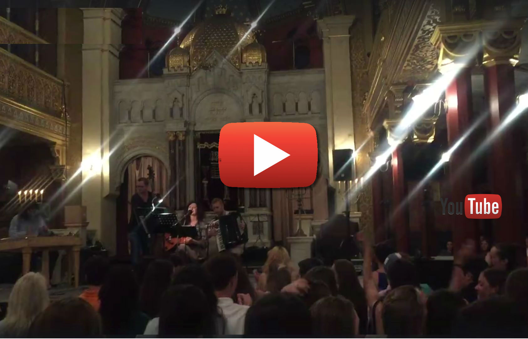 Musical Shabbat with NFTY, Rabbi Tanya Segal and Mojše Band - Krakow 2016 (click to watch)
